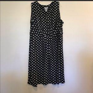 Catherine's Black & White Polka Dot Dress